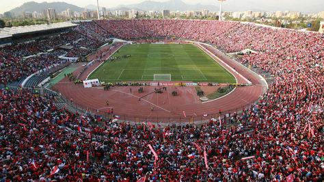 Tribunas repletas en el estadio Nacional de Santiago de Chile.