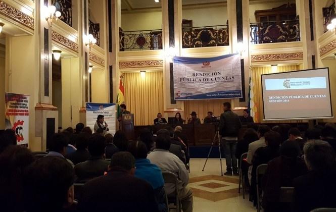 Rendición de Cuentas del Ministerio de Trabajo ignora situación del trabajo infantil en Bolivia