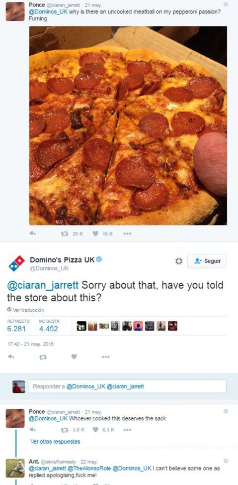 La desagradable broma que le hicieron a Domino\'s Pizza en Twitter ...