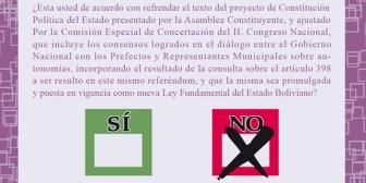 Papeleta para el Referéndum del 25 de enero: NCPE