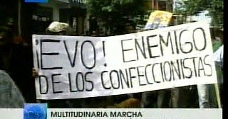 Tv y Radio meridiano. Multitudinaria marcha
