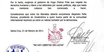 Organizaciones sociales de Bolivia se solidarizan con lucha de jóvenes venezolanos