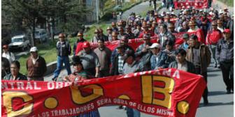 """COB ratifica """"Gran Marcha"""" en homenaje al 1 de Mayo"""