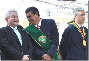 Alvaro García Linera, Rubén Costas, Ernesto Suárez