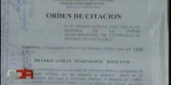 Fiscalía citó a Branko Marinkovic y a su hermana