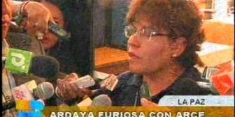 Ardaya furiosa con el ministro de Economía