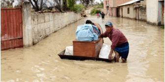 Lluvias ponen en vilo a 5 departamentos de Bolivia