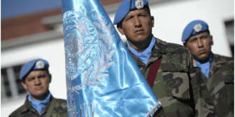 Cascos azules bolivianos reciben la Medalla de las Naciones Unidas en Haití