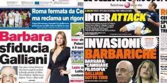 Berlusconi, su hija y Galliani, crisis en el Milan