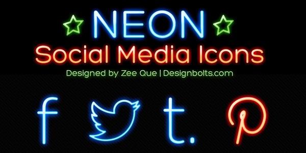 Iconos Sociales neonizados