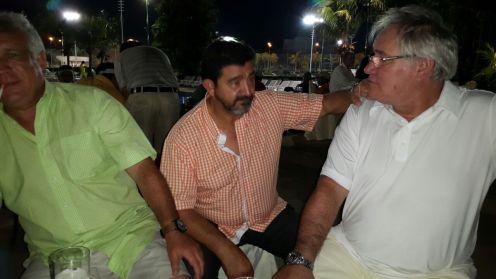 Compartiendo la cena, Beco Alba, José Luis Pepelucho Durán y Fernando Matula Vaca Díez