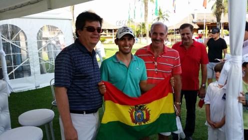 Alberto Landívar (Pdte. Federación Boliviana de Golf) Carlos De Chazal (Pdte. Las Palmas Country Club Las Palmas) Jeffer Bowles (Ex Pdte. Las Palmas Country Club)
