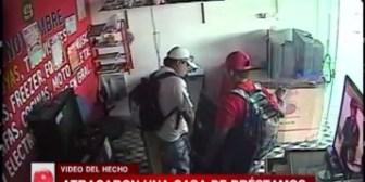 Santa Cruz: Cámara de seguridad registró el asalto a casa de empeño
