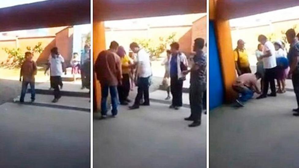 Polémica en Bolivia por un video en el que Evo ordena que le aten los cordones