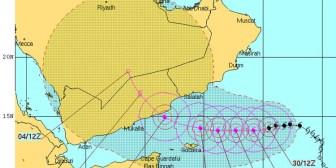 """Un potente ciclón """"extraño"""" se acerca a la devastada Yemen"""