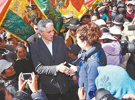 Chuquiaguillo. García visitó ayer la planta de tratamiento de agua.