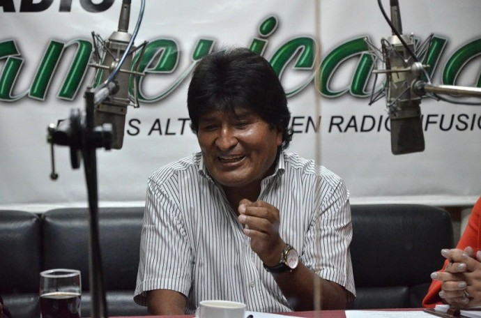 Evo Morales estuvo en radio Panamericana. Foto: ABI