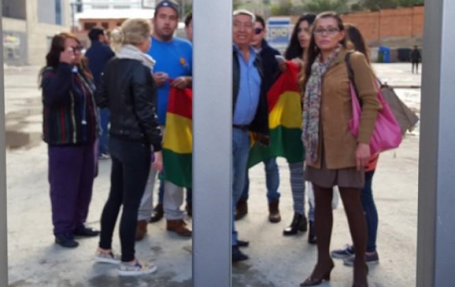 Cómputo en La Paz se desarrolla a puertas cerradas y en medio de fuerte resguardo policial y militar