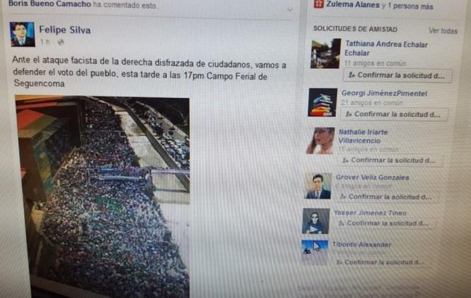 El MAS niega haber convocado por las redes sociales a movilizaciones en el Chuquiago Marka en defensa del voto por el Sí