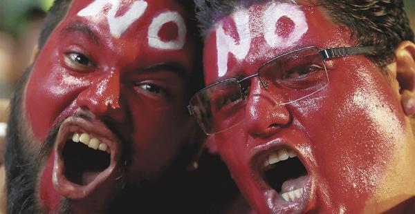 Los jóvenes fueron los principales protagonistas de la campaña del No en el referéndum constitucional