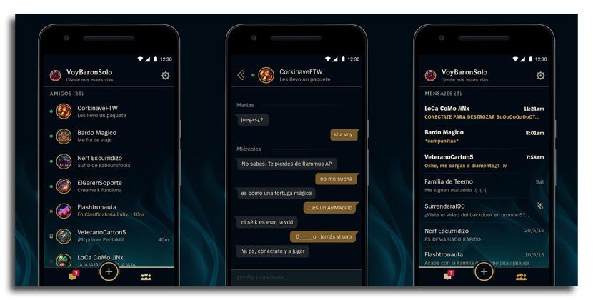amigos de lol app La app de mensajería para League of Legends disponible en Android