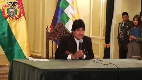 Palacio. El presidente Morales habla sobre el hijo que tuvo con Gabriela Zapata. Foto: Angel Guarachi