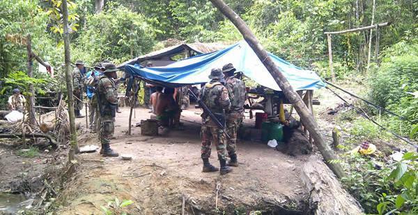 En diciembre también se encontraron campamentos de gente involucrada en hechos ilícitos en la región amazónica de Pando