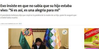 Así ve el mundo el caso de Evo Morales y Gabriela Zapata