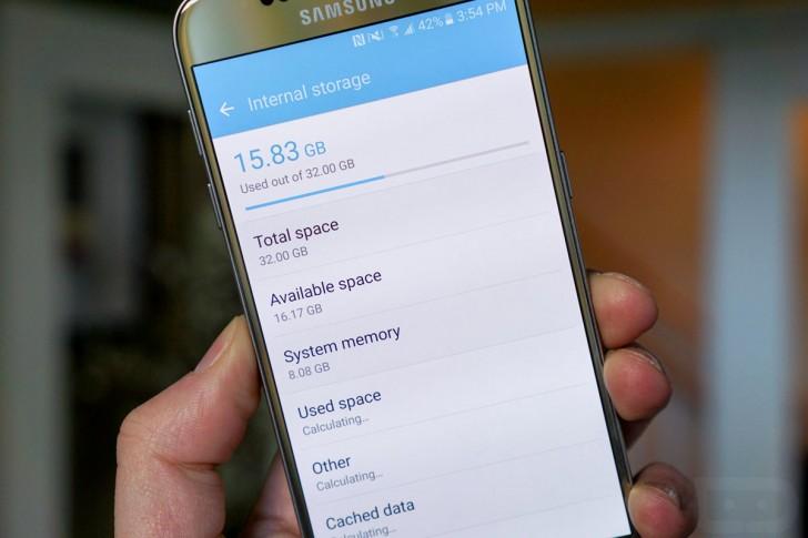 galaxy s7 espacio Android y la capa TouchWiz del Galaxy S7 ocupan 8 GB
