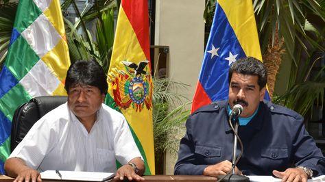 Los presidentes Evo Morales y Nicolás Maduro. Foto: Archivo