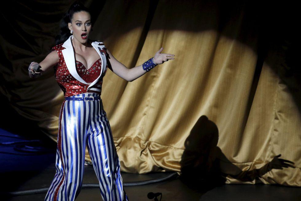 Katy Perry, durante su actuación en un concierto en apoyo de Hillary Clinton en Nueva York.