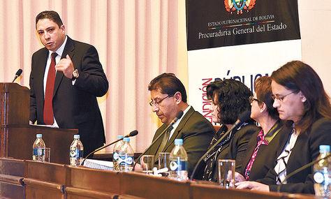 Vicepresidencia. El procurador general del Estado, Héctor Arce, durante la rendición de cuentas.