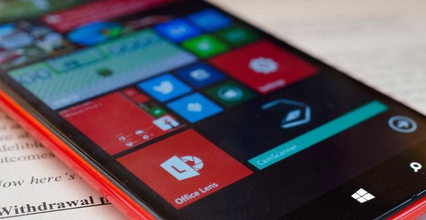 Office lens app 830x430 Windows Phone pierde cuota de mercado en todo el mundo