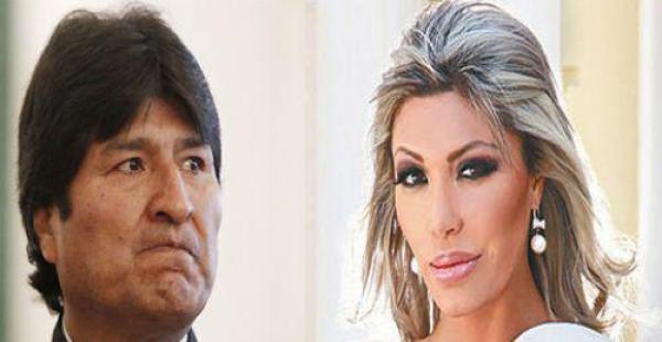 Evo Morales y Gabriela Zapata
