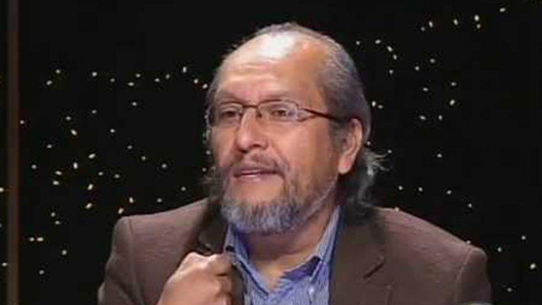 Chávez Sánchez en la televisión boliviana, días antes de cruzar ilegalmente a la Argentina.