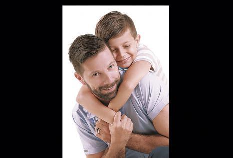 Juan María Nougues es papá de dos. Posó con Felipe y fue elegido por ser un padre moderno