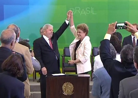 Dilma Rousseff posesiona a Luiz Inácio Lula da Silva. Foto: @laradiodelsur