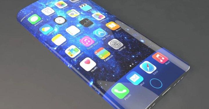 concepto de iphone 7 con pantalla edge