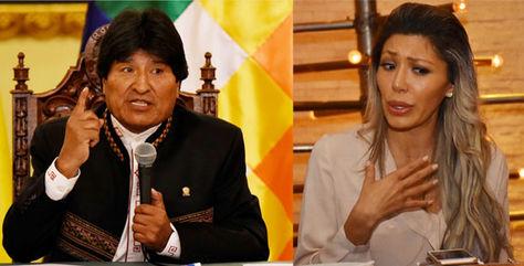El presidente Evo Morales presentó una demanda contra su expareja.