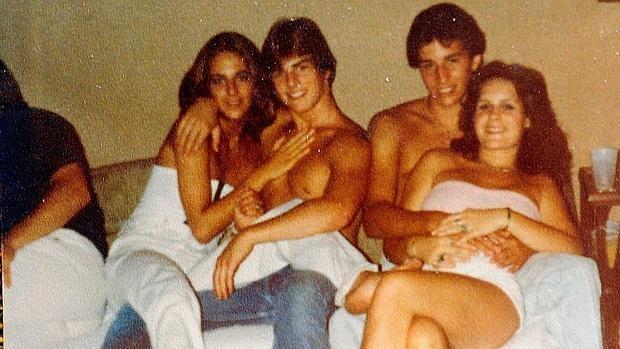 Diane Cox y Tom Cruise cuando tenían 17 y 18 años, respectivamente