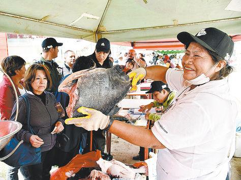 Oferta. El pacú por kilo, de San Buenaventura, tuvo gran demanda en la Feria del Pescado 2016.