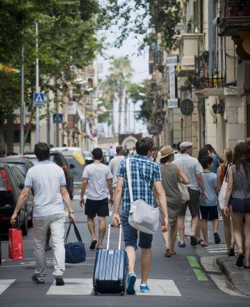 El alojamiento en casas particulares crece en ciudades como Barcelona.