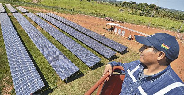 En la región amazónica de Pando se construyó la primera planta solar