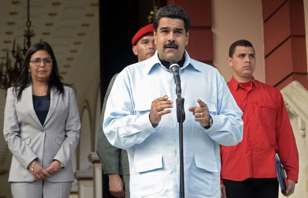 El presidente Maduro, el miércoles en Caracas.