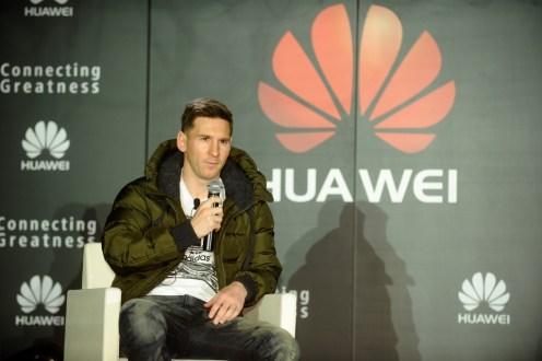 Lionel Messi hablando de su afinidad con Huawei