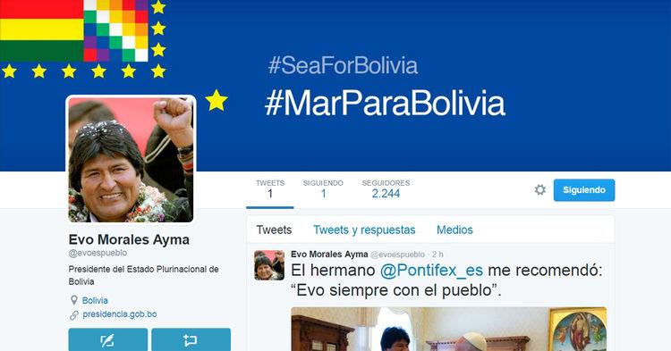Cuenta Evo Morales, presidente de Bolivia: @evoespueblo
