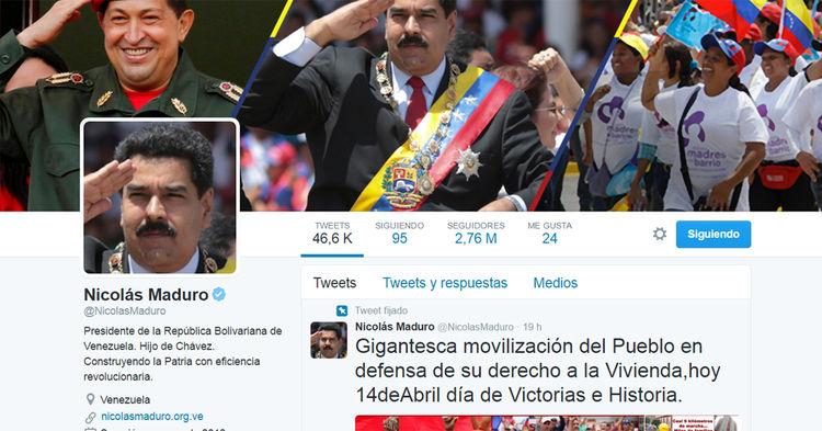 Cuenta Nicolás Maduro, presidente de Venezuela: @NicolasMaduro