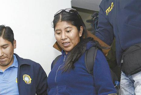entregarán más pruebas el abogado de zapata dice que hará  nuevas revelaciones sobre quintana La exdirectora de Gestión Pública, Cristina Choque, es llevada a declarar ante     los fiscales