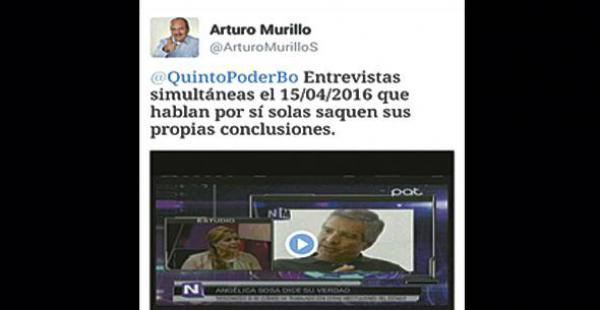 Captura de pantalla del tuit realizado por el senador Murillo