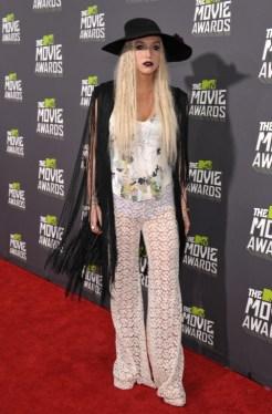 La cantante Kesha en MTV Movie Awards de 2013.